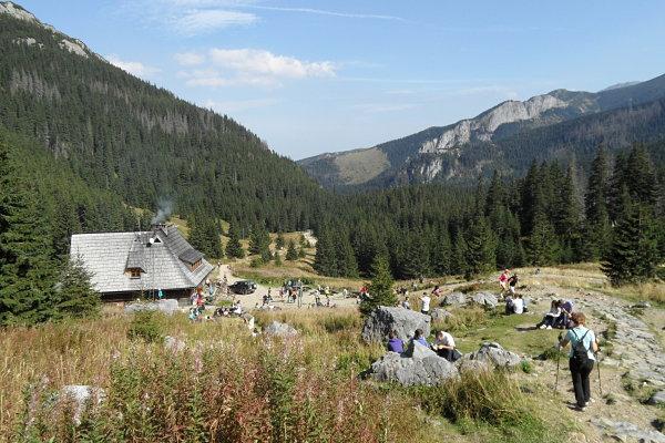Fotografía del segundo refugio de Kalatówki, rumbo a Kasprowy Wierch