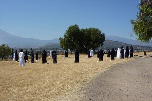 Representación del solsticio de invierno en San Pedro Cholula