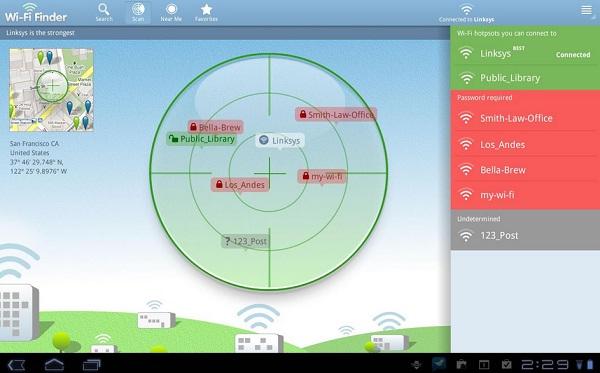 Wi-Fi Finder aplicación viajera android