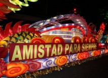 Navidad Costa Rica Carroza Festival Luz