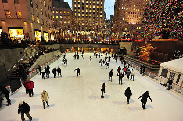 Navidad Nueva York patinaje sobre hielo