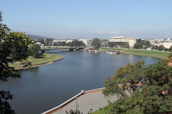 Desde lo alto de la colina de Wawel en Cracovia obtendremos unas increíbles vistas del río Vístula