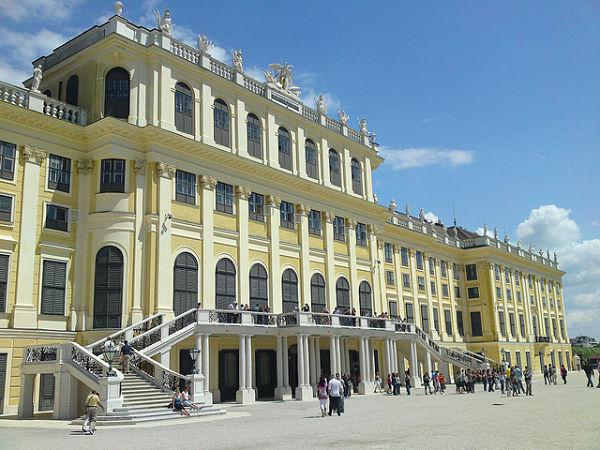 Fotografía entrada palacio de Schönbrunn