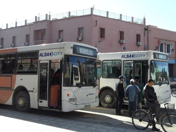 El número 19 de Alsa City es el autobús que une el aeropuerto y el centro de Marrakech