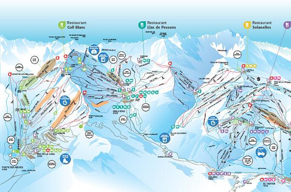 Mapa Grandvalira