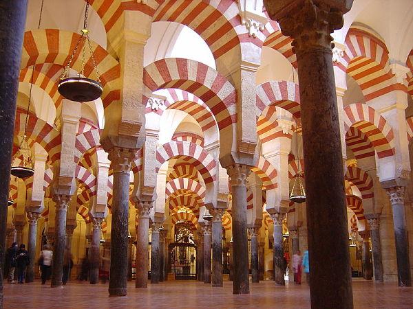 mezquita catedral cordoba bosque columnas