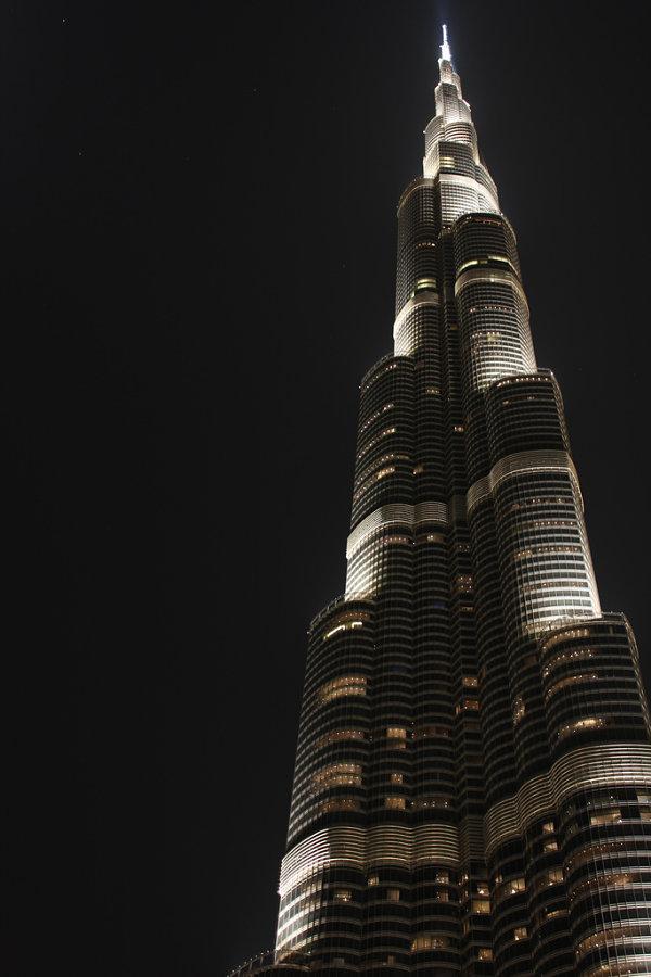 Burj Khalifa Dubai noche