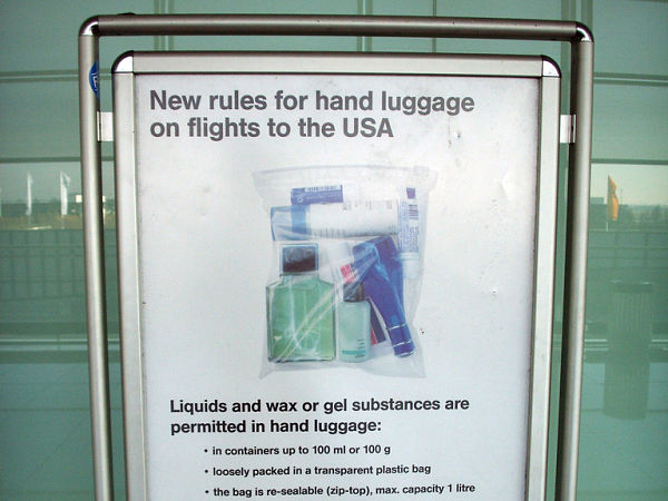 equipaje mano liquidos