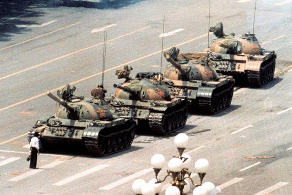 plaza Tiananmen hombre tanque