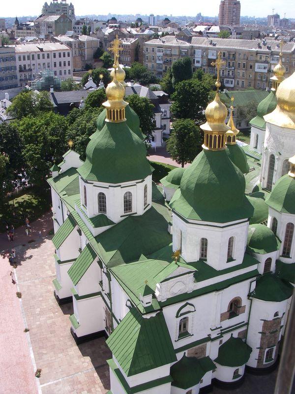 catedral santa sofia kiev cupulas