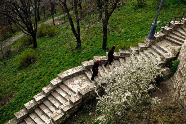 Ciudadela Budapest escalinata