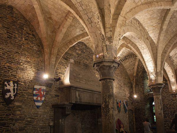 castillo condes flandes interior