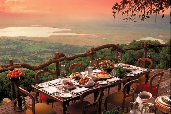 restaurante Ngorongoro Crater Lodge