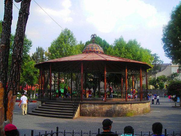 Plaza Hidalgo Coyoacan kiosco