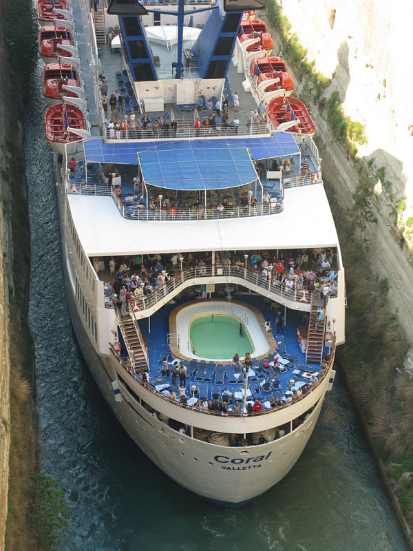 canal corinto crucero