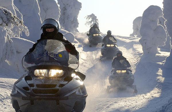 excursion motos valle aran nieve