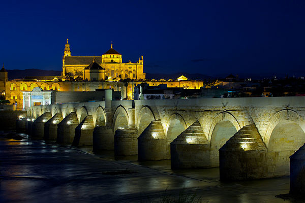 puente romano cordoba noche
