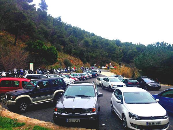carretera aguas barcelona coches
