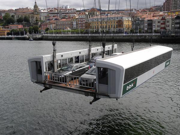 puente colgante bilbao transbordador