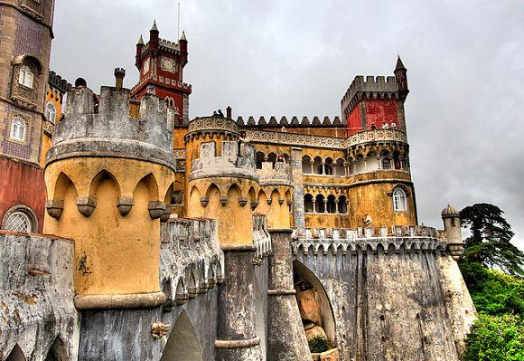 Palacioa da Pena en Sintra, Portugal