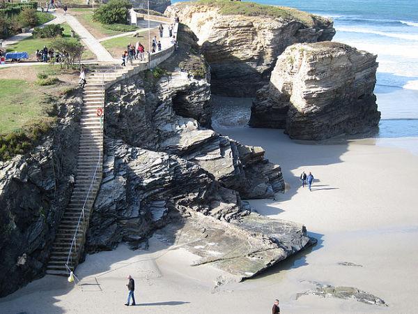 playa catedrales como llegar