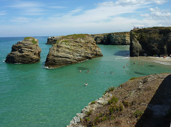 playa catedrales marea