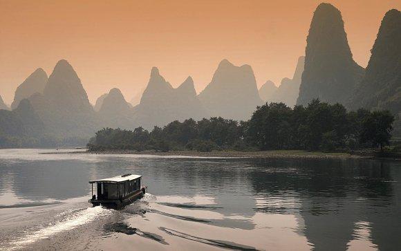 Navegando en el río Li de China