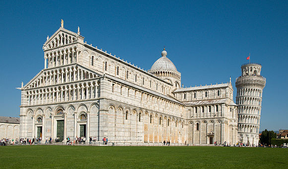 Catedral de Pisa, de la que forma parte la Torre de Pisa