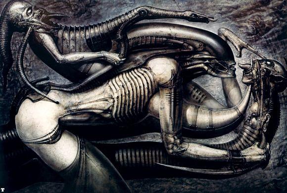 Arte conceptual de H.R. Giger sobre el universo Alien