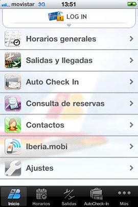 Nueva aplicación de Iberia en la Apple Store