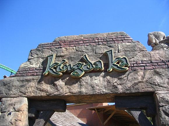 Entrada a la montaña rusa Kingda Ka, la más alta del mundo