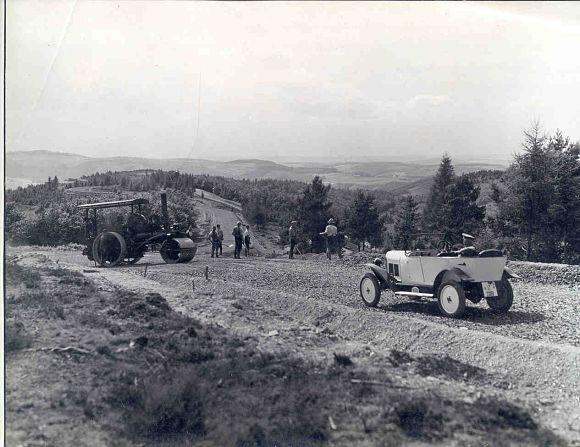 Construcción del antiguo Circuito de Nürburgring, Alemania