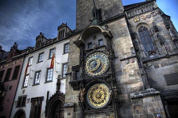 Imagen del reloj astronómico de Praga, República Checa