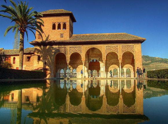 Palacio de El Partal en la Alhambra