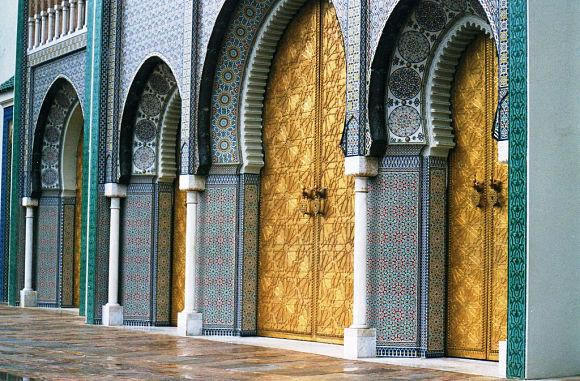 Puertas del Palacio Real de Fez, todo un ejemplo de la belleza del Arte Musulmán