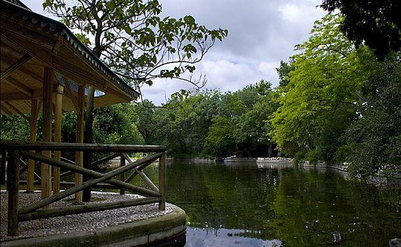 Vista de uno de los estanques del parque