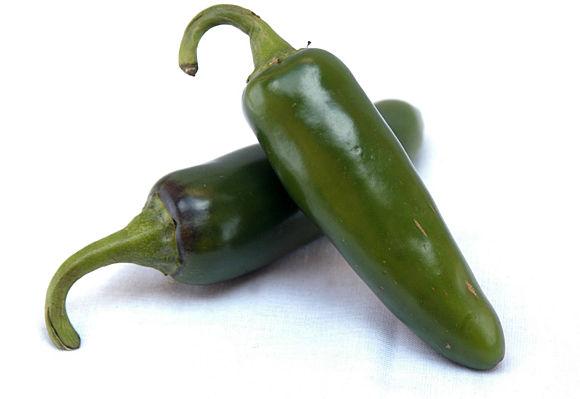 Imagen en detalle de los chiles jalapeños