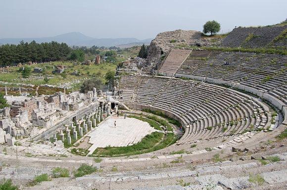 El Gran Teatro de Éfeso en Turquía es espectacular y con una increíble acústica