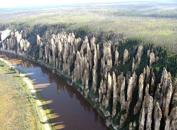 Increíbles vistas de los Pilares de Lena en Siberia, Rusia