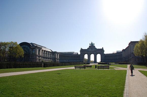 Fotografía tomada en el parque del Cincuentenario en Bruselas, Bélgica