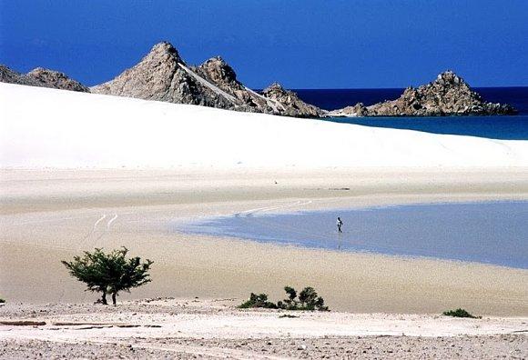 Imagen idílica de una de las islas del archipiélago de Socotra