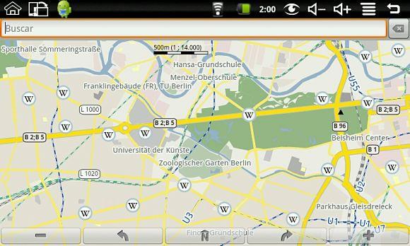 Imagen tomada de la aplicación para viajeros TravelDroyd de Android