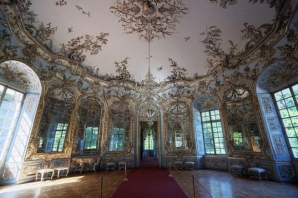 El pabellón Amalienburg está considerado uno de los más bonitos de todo el complejo de mansiones