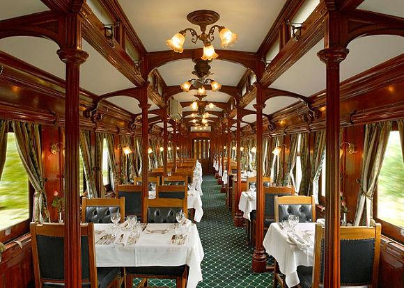 Desde el restaurante del tren podremos disfrutar de las increíbles vistas de Sudáfrica