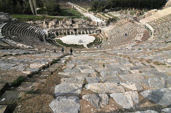 Fotografía tomada desde lo alto del Gran Teatro de Éfeso, Turquía