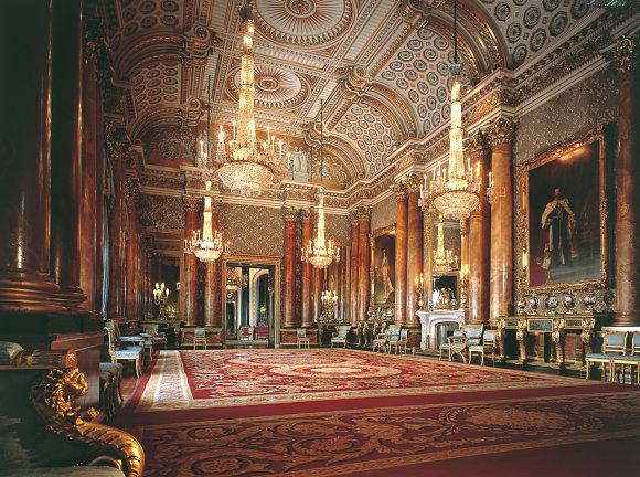 Imagen del salón azul del Buckingham Palace, del fotógrafo Peter Smith