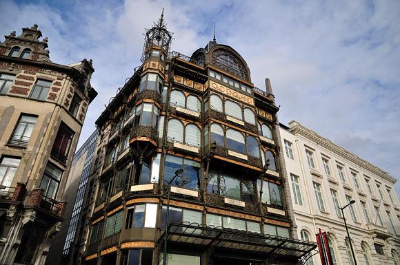 Fachada del edificio de arte modernista que alberga el Museo de Instrumentos de Música de Bruselas
