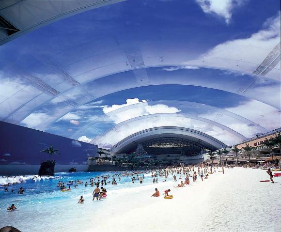 Seagaia Ocean Dome, una gigantesca playa artificial en Miyazaki, Japón