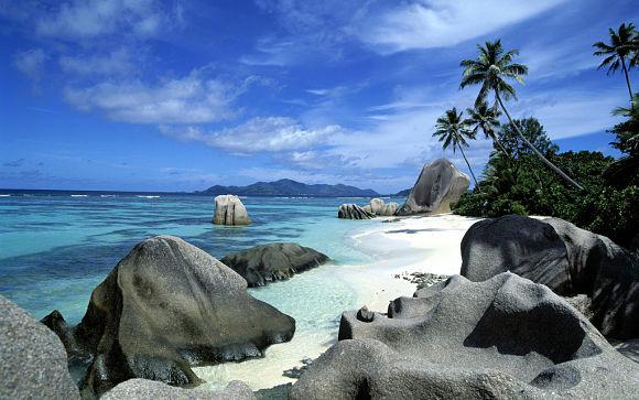 La playa Anse Source D´Argent es una playa totalmente paradisíaca donde disfrutaremos de unas vacaciones inolvidables