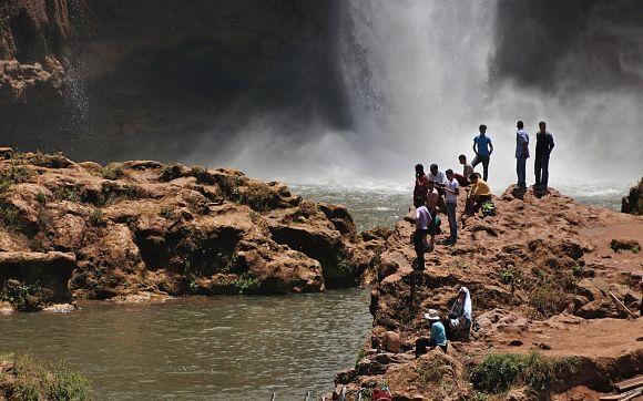En Ouzoud podremos darnos un agradable baño en el agua que cae de las cascadas